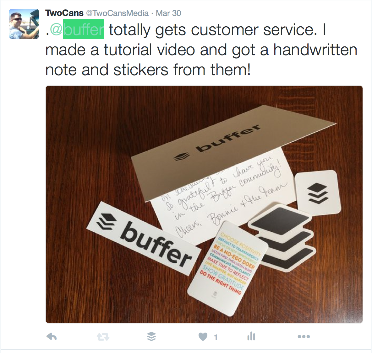 Buffer customer service